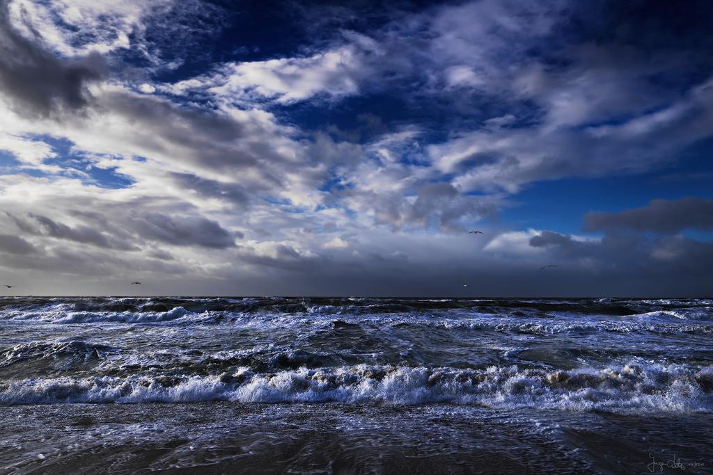 Brandung | Brandung mit Wolkenhimmel, Weststrand, Sylt