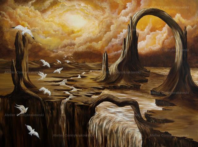 Das Tor der Zeit 4000 Pixel Auflösung 300 | Phantastischer Realismus aus dem Atelier Conny Krakowski. Verkäuflich als Poster, Leinwanddruck und vieles mehr.