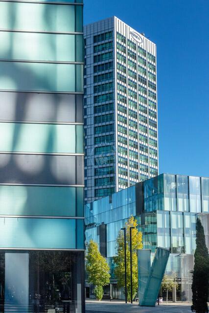 Barcelona Stadtteil Fira Businessarchitektur   ESP, Spanien, Barcelona, 17.12.2018, Barcelona Stadtteil Fira Businessarchitektur [2018 Jahr Christoph Hermann]