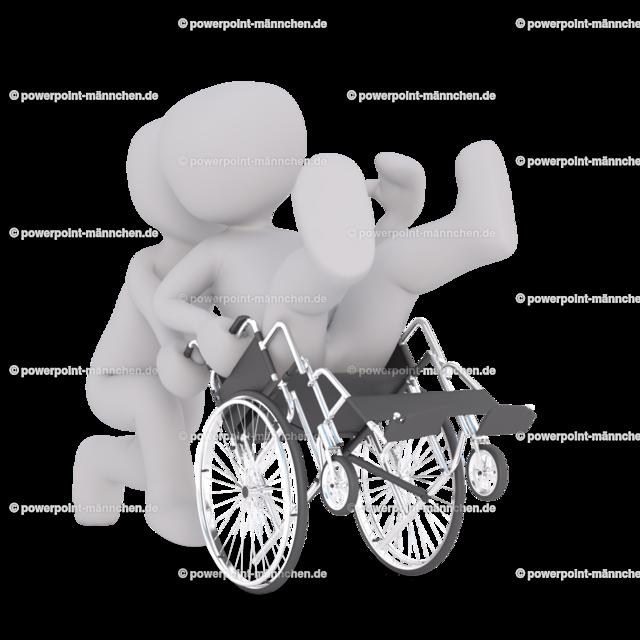 handicapped person sitting in a wheelchair | Quelle: https://3dman.eu   Jetzt 250 Bilder kostenlos sichern