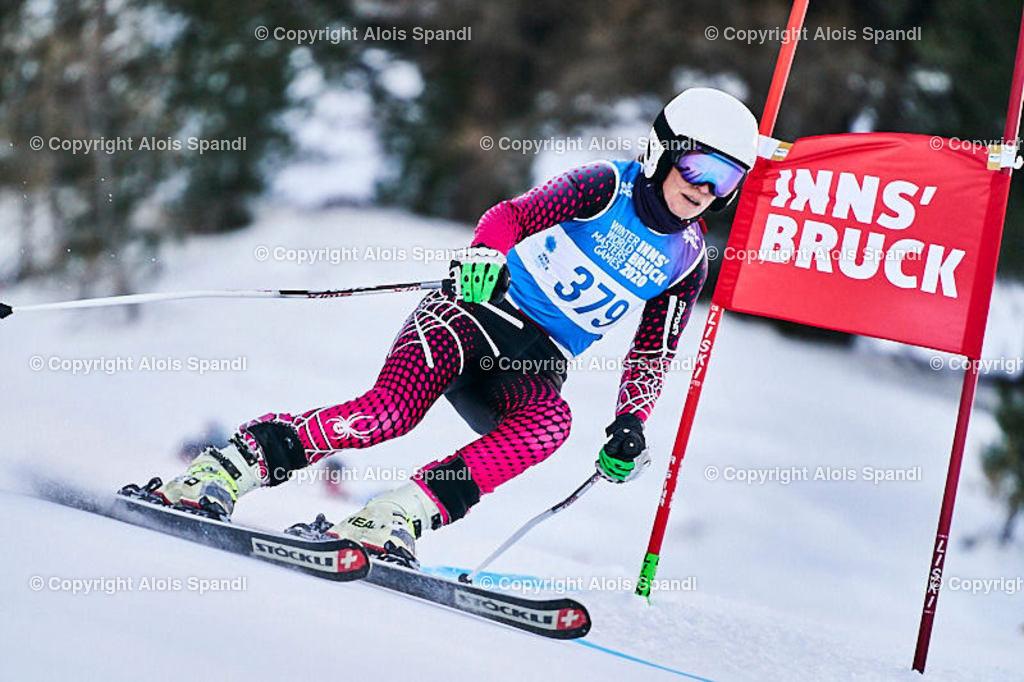 ALS5579_WWMG_GS-II_C | (C) FotoLois.com, Alois Spandl, WinterWorldMastersGames 2020 Innsbruck, Giant Slalom-II Gruppe C Damen, Patscherkofel Olympiaabfahrt, Mi 15. Jänner 2020.