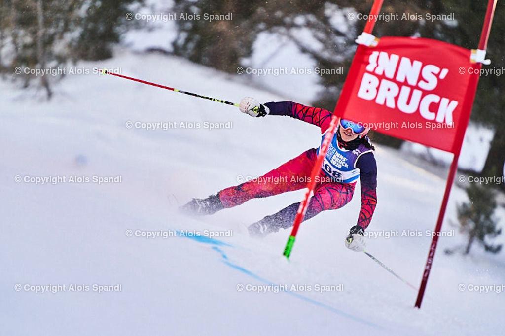 ALS6016_WWMG_GS-II_C   (C) FotoLois.com, Alois Spandl, WinterWorldMastersGames 2020 Innsbruck, Giant Slalom-II Gruppe C Damen, Patscherkofel Olympiaabfahrt, Mi 15. Jänner 2020.