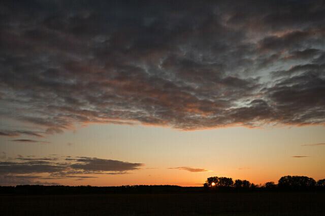 Sonnenuntergang in Jeßnigk