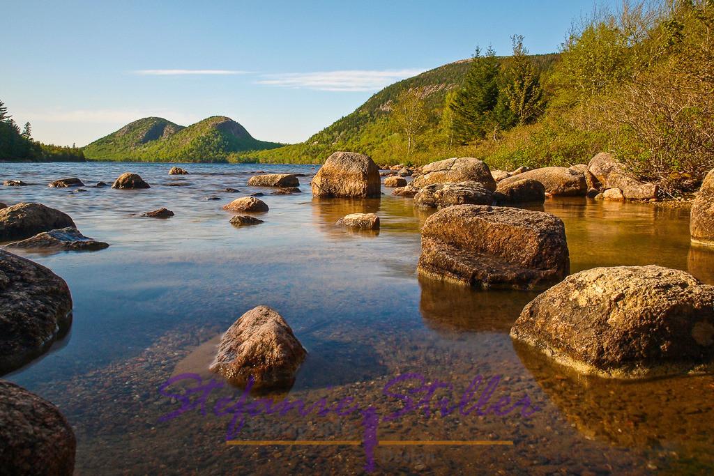 Jordan Pond | Blick über Jordan Pond mit Bubble Rock im Hintergrund