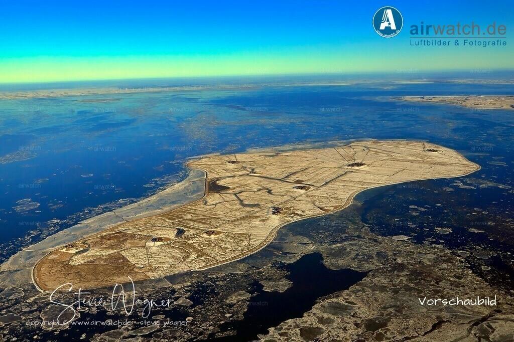 Winter Luftbild, Nordsee, Nordfriesland, Hallig Hooge | Winter Luftbild, Nordsee, Nordfriesland, Hallig Hooge