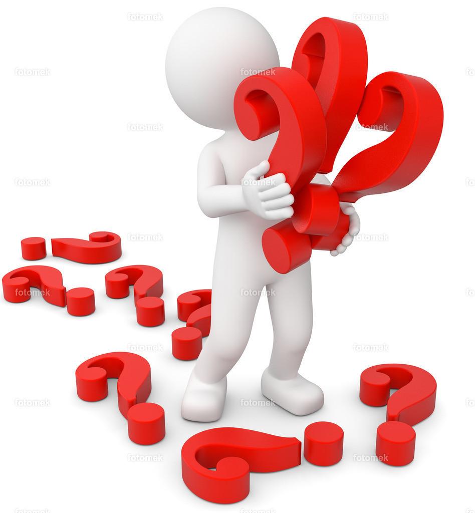 3d Männchen Fragen über Fragen