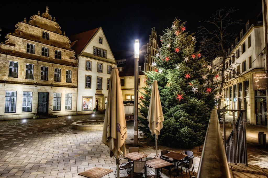 Weihnachtlicher Alter Markt in Bielefeld | Weihnachtlicher Alter Markt in Bielefeld im Dezember 2020.