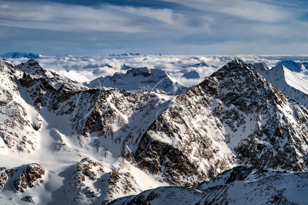 Blick nach Südtirol | Fantastischer Blick vom Stubaier Gletscher nach Südtirol