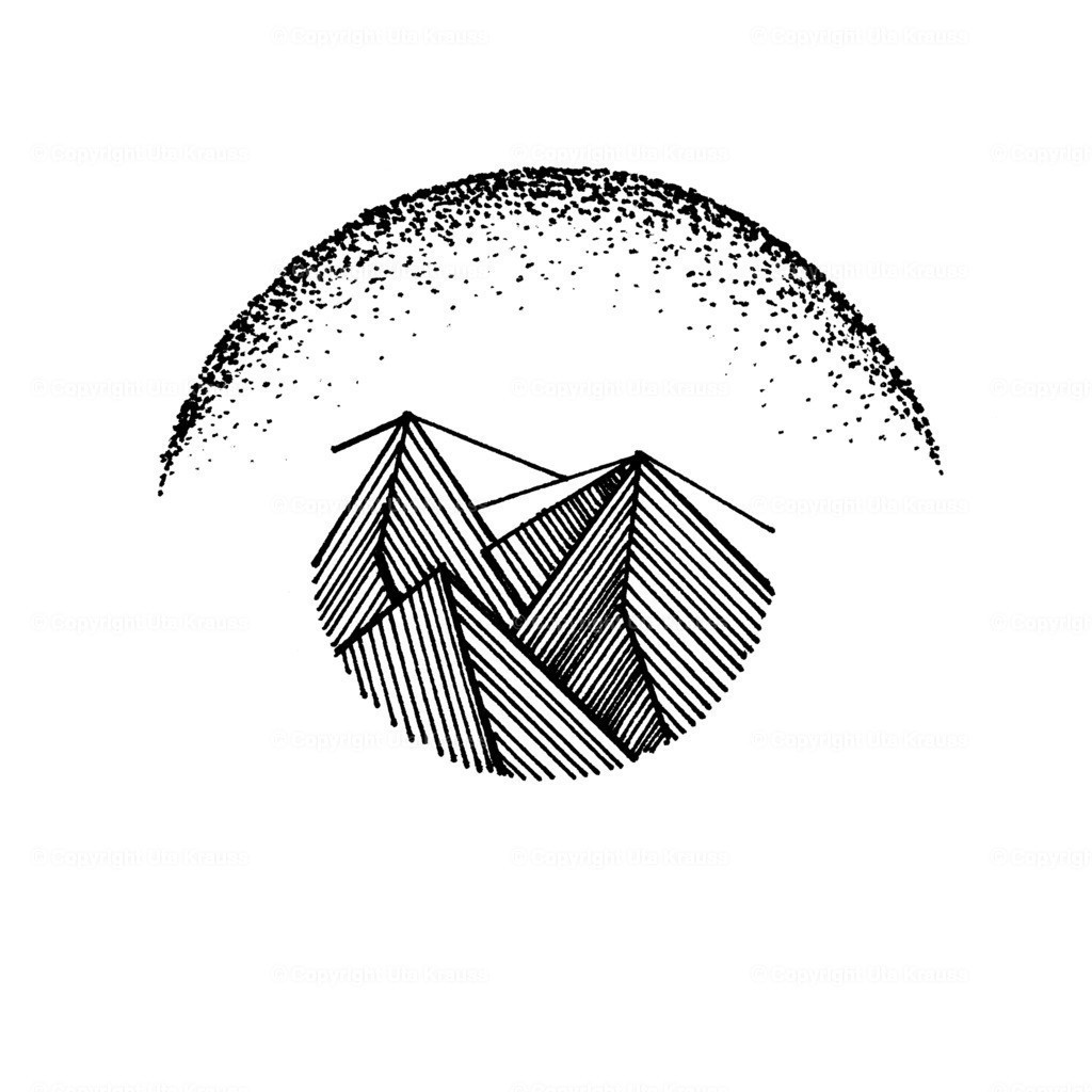 Over the Mountains | Graphic Art - Design by Hand