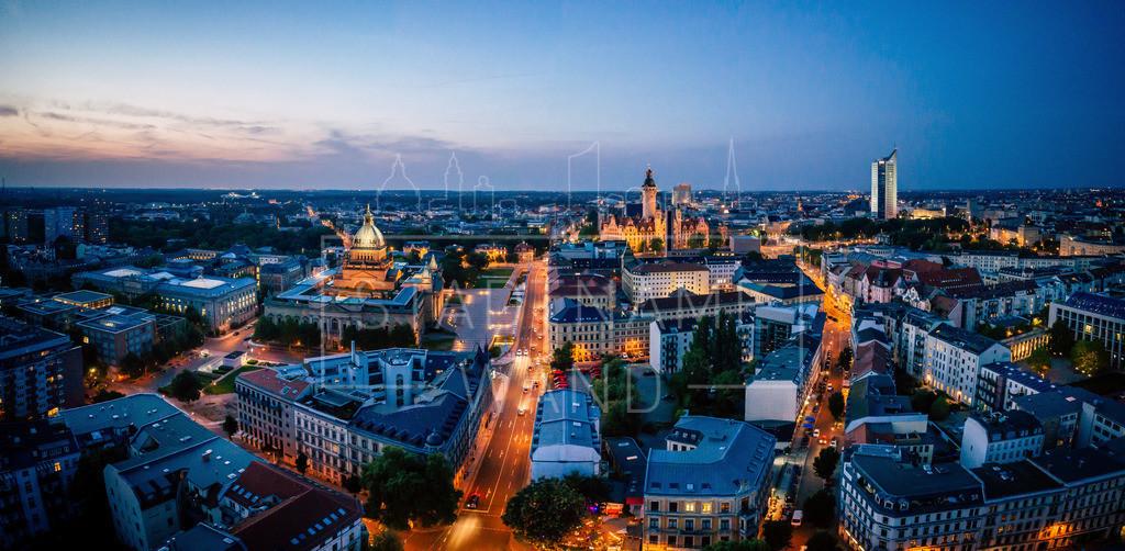 Leipzig Blick vom Floßplatz
