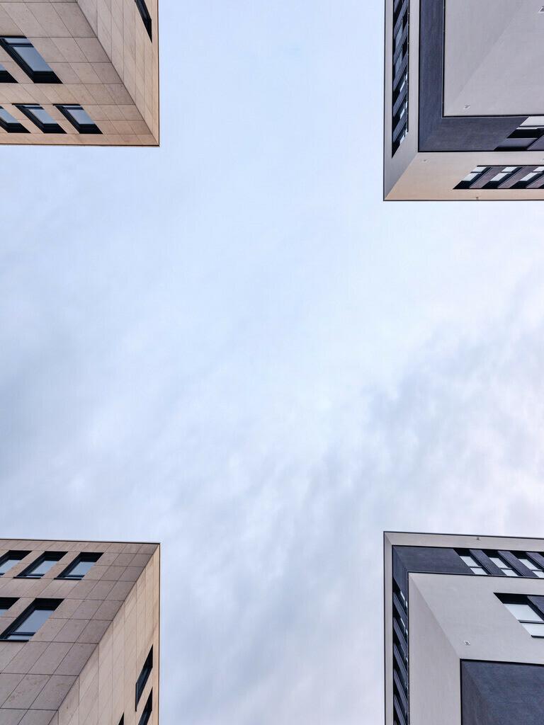 Bürogebäude an der Herforder Straße | Bürogebäude zwischen der Herforder Straße und dem Hauptbahnhof in Bielefeld.