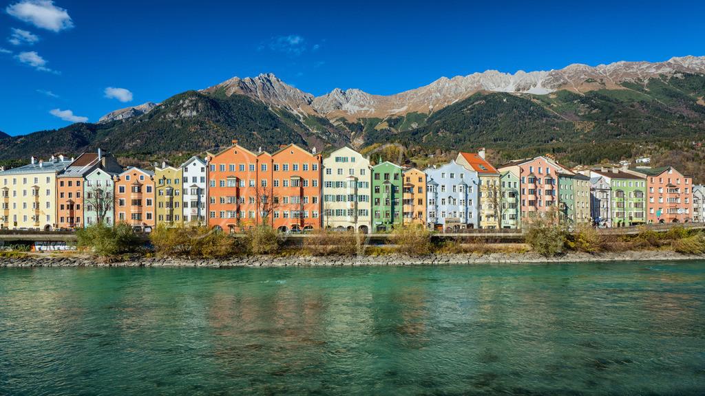 Herbst in Innsbruck | Blick auf die herbstliche Nordkette und Mariahilf