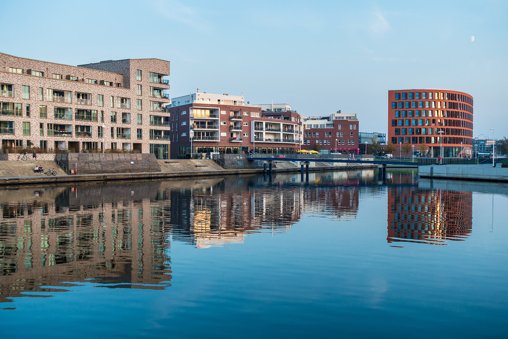 Blick auf die Holzhalbinsel in Rostock | Blick auf die Holzhalbinsel in Rostock.