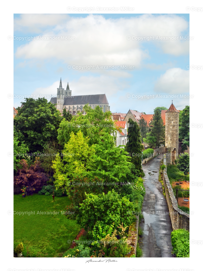 Rothenburg ob der Tauber No.42 | Dieses Werk zeigt den malerischen Blick auf die Stadtkirche St. Jakob.