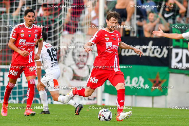 AUT, 2.Liga, SK Vorwaerts Steyr vs FC Wacker Innsbruck   13.08.2021, EK Arena Steyr, AUT, 2.Liga, SK Vorwaerts Steyr vs FC Wacker Innsbruck, im Bild Christoph Freitag (Steyr)