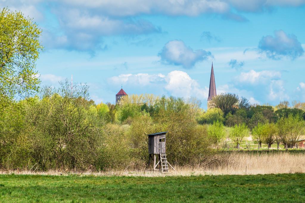 Blick auf die Nikolaikirche und Petrikirche in der Hansestadt Rostock | Blick auf die Nikolaikirche und Petrikirche in der Hansestadt Rostock.