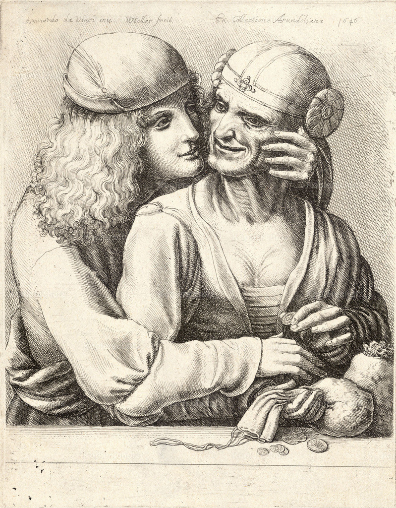 Wenceslas_Hollar_-_Youth_caressing_a_woman