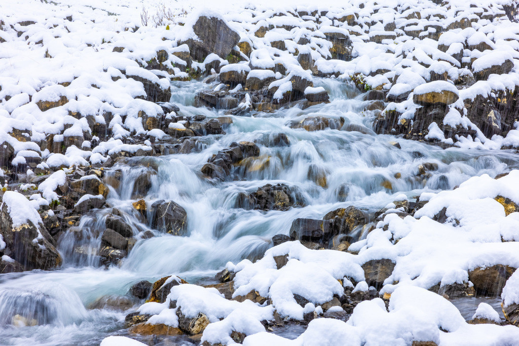 Mountain river | The fresh and crystal clear mountain water searches its long way down to the valley and the sea.