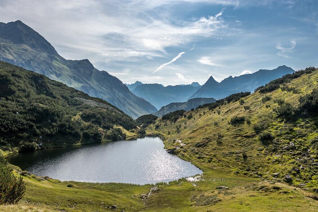 Kleiner See in den Montafoner Alpen