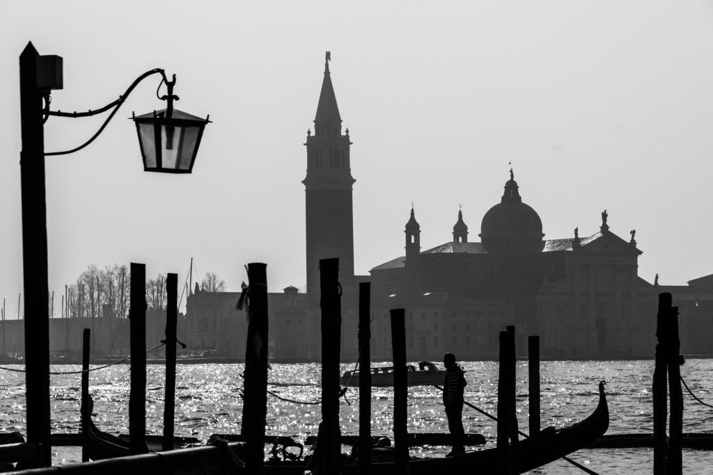 Venedig - Blick auf San Giorgio Maggiore | Blick über das Markusbecken zur Insel San Giorgio Maggiore in Venedig