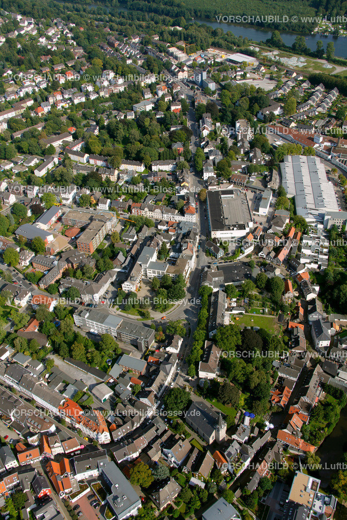 KT10094274 | Steinweg, Kettwig, Ruhr, Luftbild,  Essen, Ruhrgebiet, Nordrhein-Westfalen, Germany, Europa, Foto: hans@blossey.eu, 05.09.2010