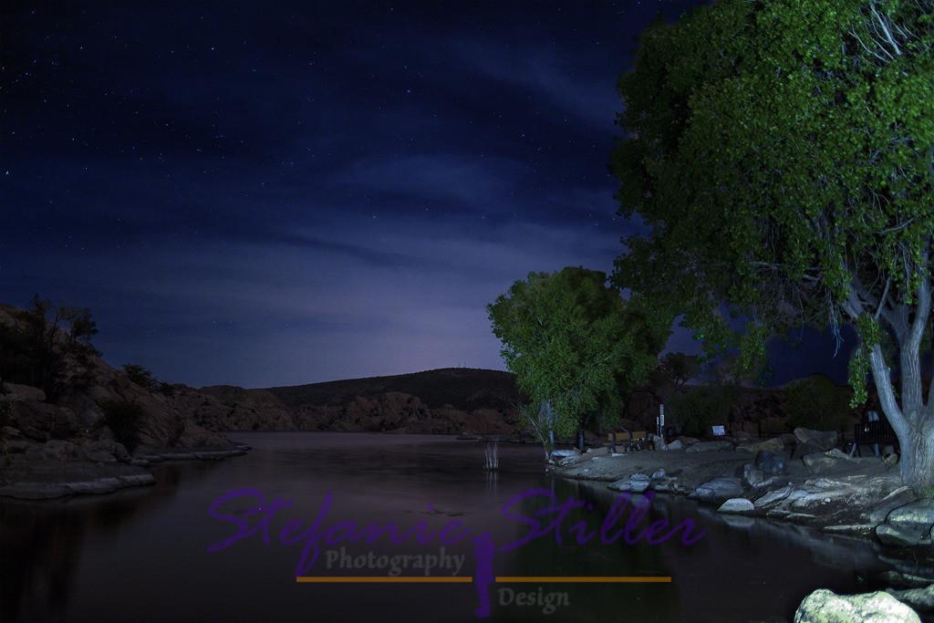 Nacht über Watson Lake