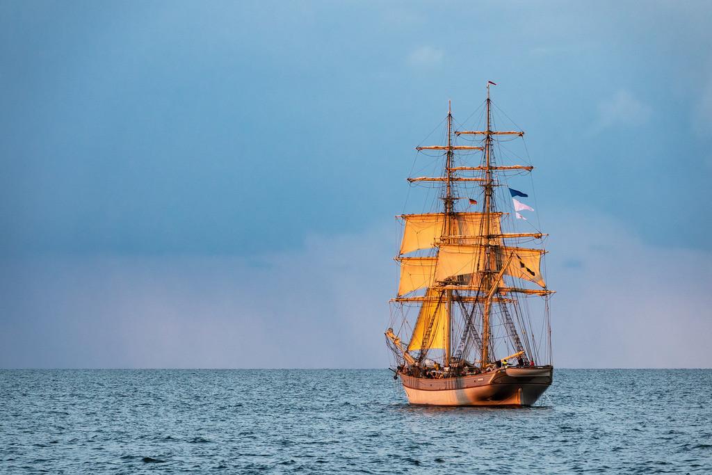 Segelschiff auf der Hanse Sail in Rostock | Segelschiff auf der Hanse Sail in Rostock.