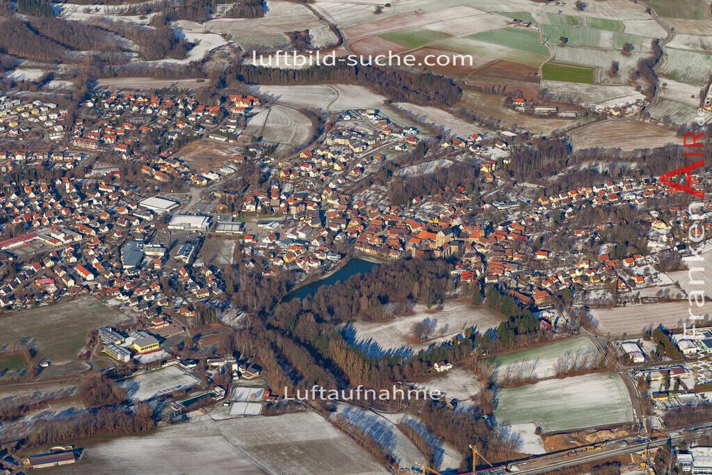 thurnau-19-155   aktuelles Luftbild von  Thurnau - Luftaufnahme wurde 2019 von https://frankenair.de mittels Flugzeug (keine Drohne) erstellt.