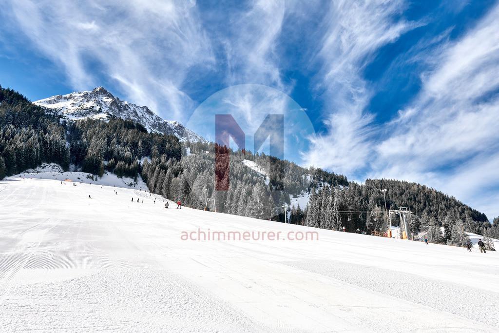 Skipiste Nesselwängle, Tannheimer Tal, Tirol, Österreich