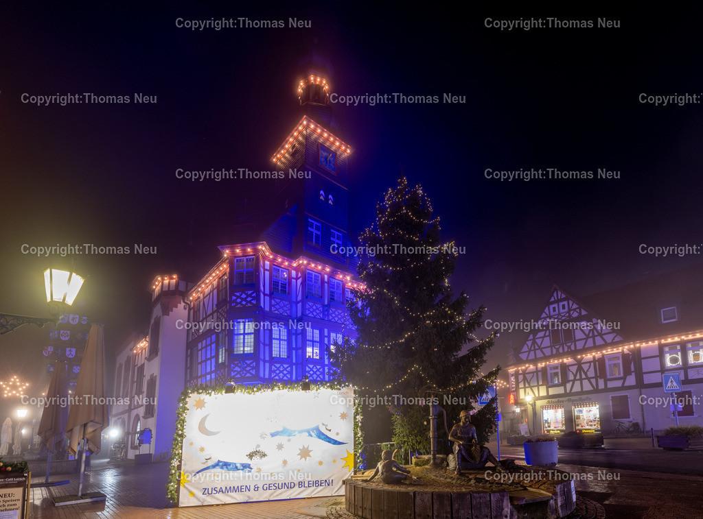 DSC_4036   ble,Lorsch, blaues Weihnachtswunder, Innenstadt, ,, Bild: Thomas Neu