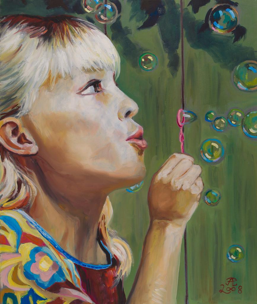 Der Tanz der Seifenblasen | Originalformat: 60x50cm  -  Produktionsjahr: 2008