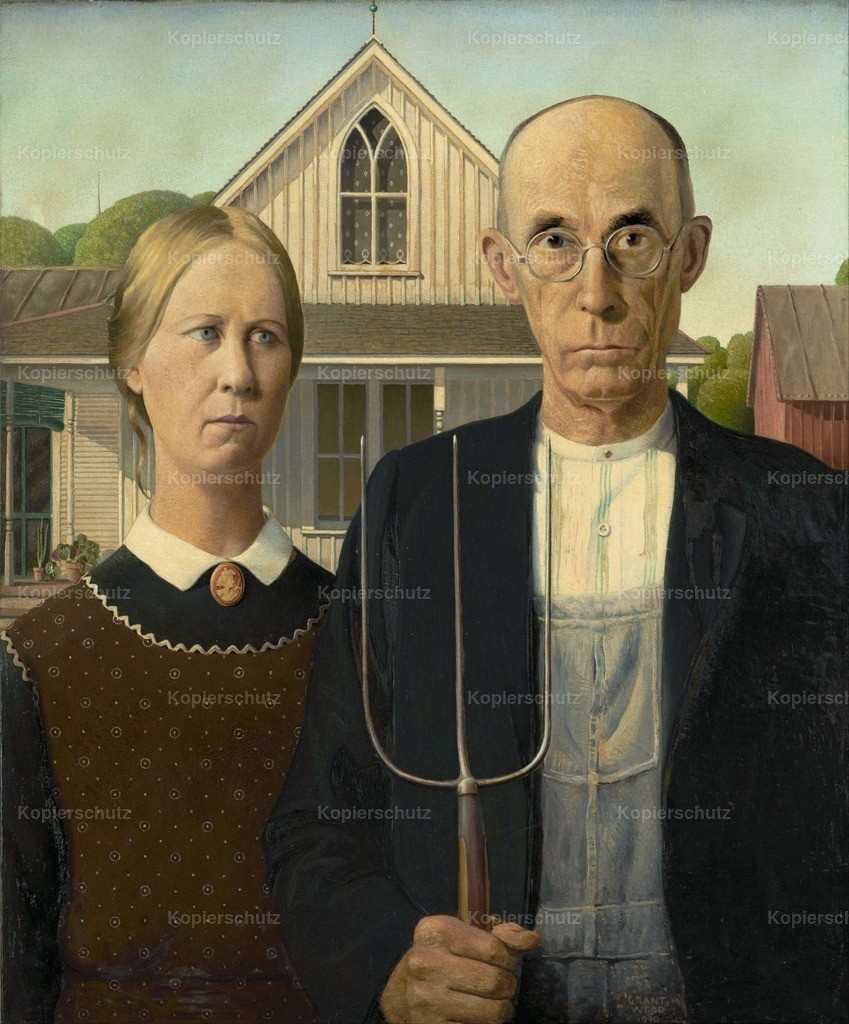 Wood_ Grant (1891-1942) - American Gothic 1930