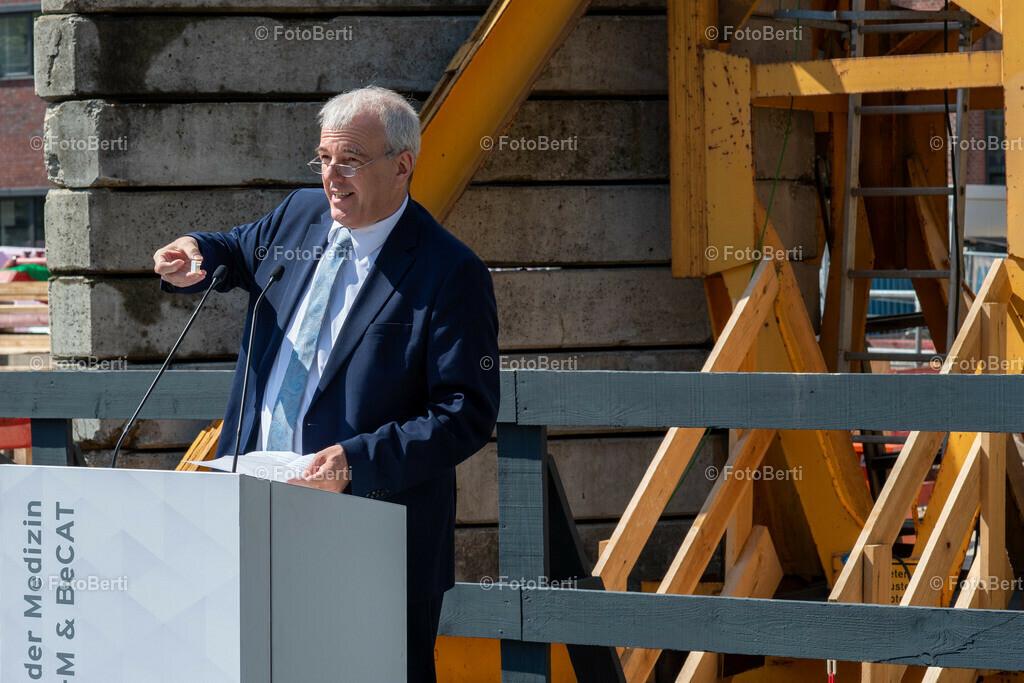 Grundsteinlegung der Forschungsgebäude Si-M & BeCat   Lars Oeverdieck, Kanzler der TU Berlin
