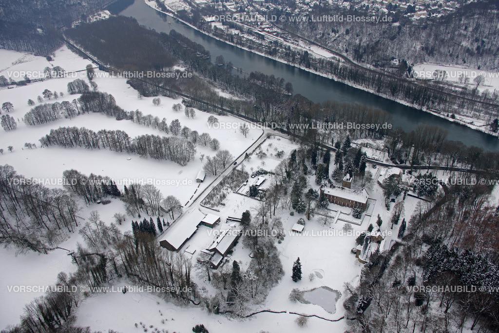 KT10011102   Schnee,  Kettwig, Essen, Ruhrgebiet, Nordrhein-Westfalen, Deutschland, Europa, Foto: Luftbild Hans Blossey, Copyright: hans@blossey.eu, 06.01.2010, E 006° 57' 55.22