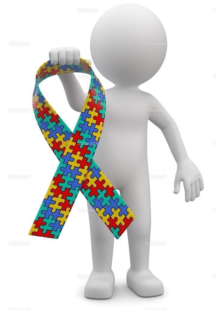 3d Männchen mit Autismusschleife