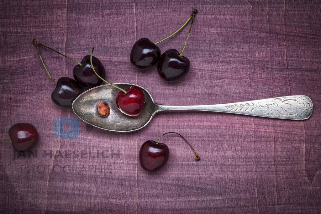 Familiensilber - Loeffel mit Kirschen | Silberlöffel mit Kirschen