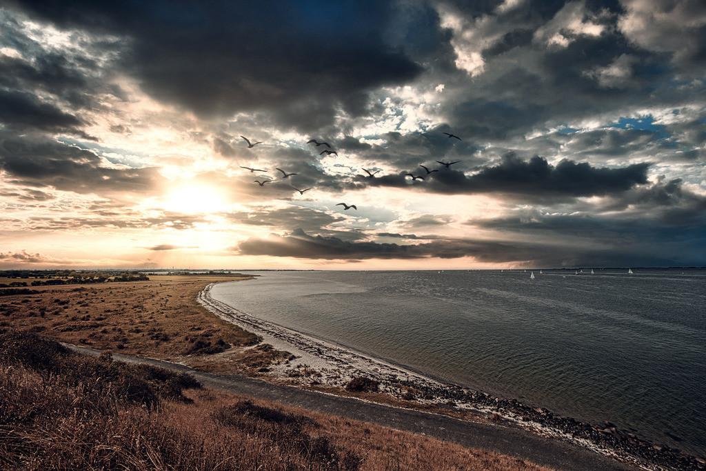 Sonnenuntergang Fehmarn Ostsee - Kalt