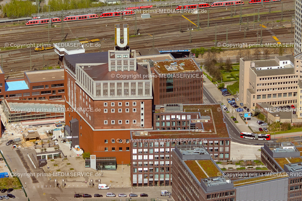 20150421-21.04.2015 Luftbilder Fotoflug Dortmund | 21.04.2015 in Dortmund (Nordrhein-Westfalen, Deutschland) Luftbilder Fotoflug Dortmund Dortmunder U-Turm  Foto: Michael Printz / PHOTOZEPPELIN.COM