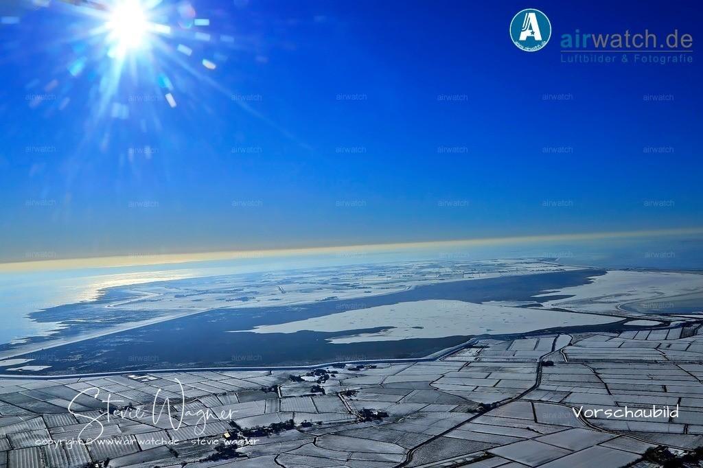 Winter Luftbilder, Nordsee, Nordfriesland, Husumer Bucht, Halbinsel Nordstrand | Luftbilder, Nordsee, Nordfriesland, Husumer Bucht, Halbinsel Nordstrand