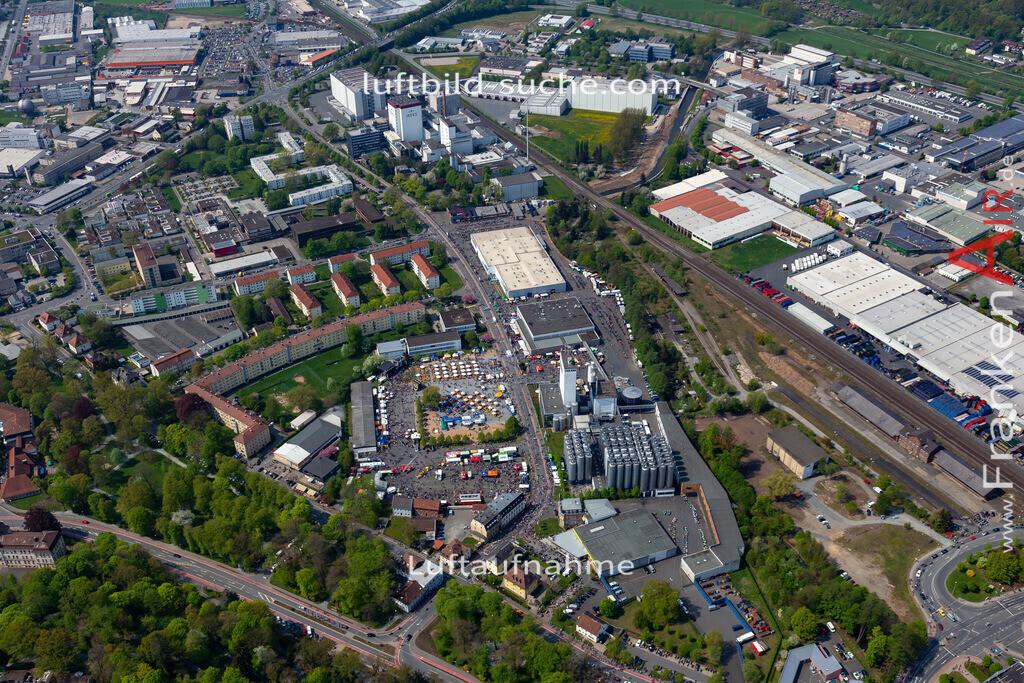 kulmbach-18-69 | aktuelles Luftbild von  Kulmbach - Luftaufnahme wurde 2018 von https://frankenair.de mittels Flugzeug (keine Drohne) erstellt.