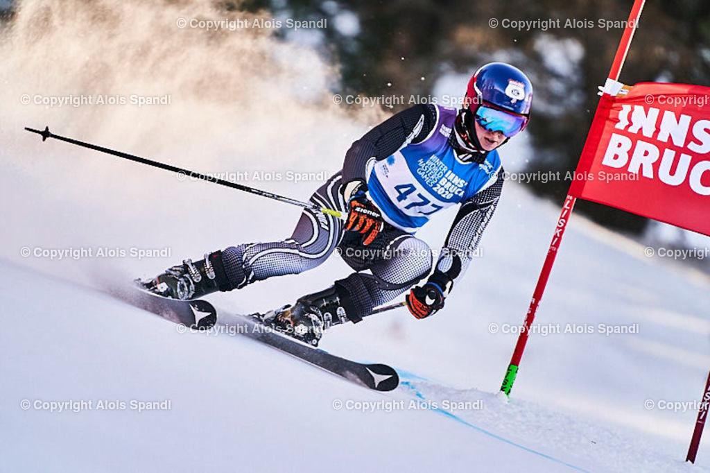 ALS6076_WWMG_GS-II_C | (C) FotoLois.com, Alois Spandl, WinterWorldMastersGames 2020 Innsbruck, Giant Slalom-II Gruppe C Damen, Patscherkofel Olympiaabfahrt, Mi 15. Jänner 2020.