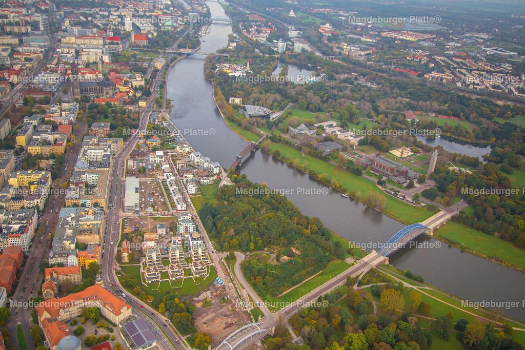 Luftbild Magdeburg Elbbahnhof für Polte-6357