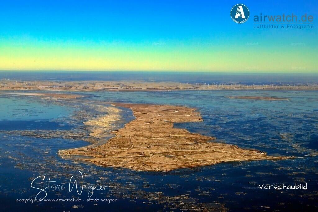 Winter Luftbilder, Nordsee, Nordfriesland, Hallig Langeness | Winter Luftbilder, Nordsee, Nordfriesland, Hallig Langeness