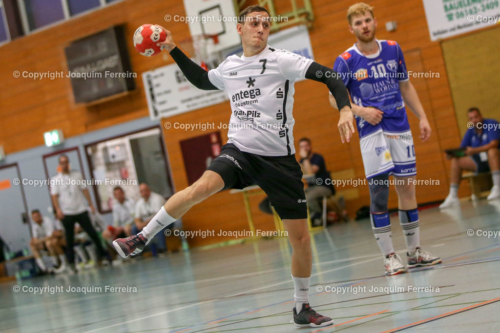 190913_msg_0188   despor 2019.09.13 HHV Handball Männer Oberliga MSG Umstadt/Habitzheim gegen TuS Dotzheim emspor, emonline, despor,  v.l.,  Justin Kraus (MSG Umstadt/Habitzheim) Foto: Joaquim Ferreira