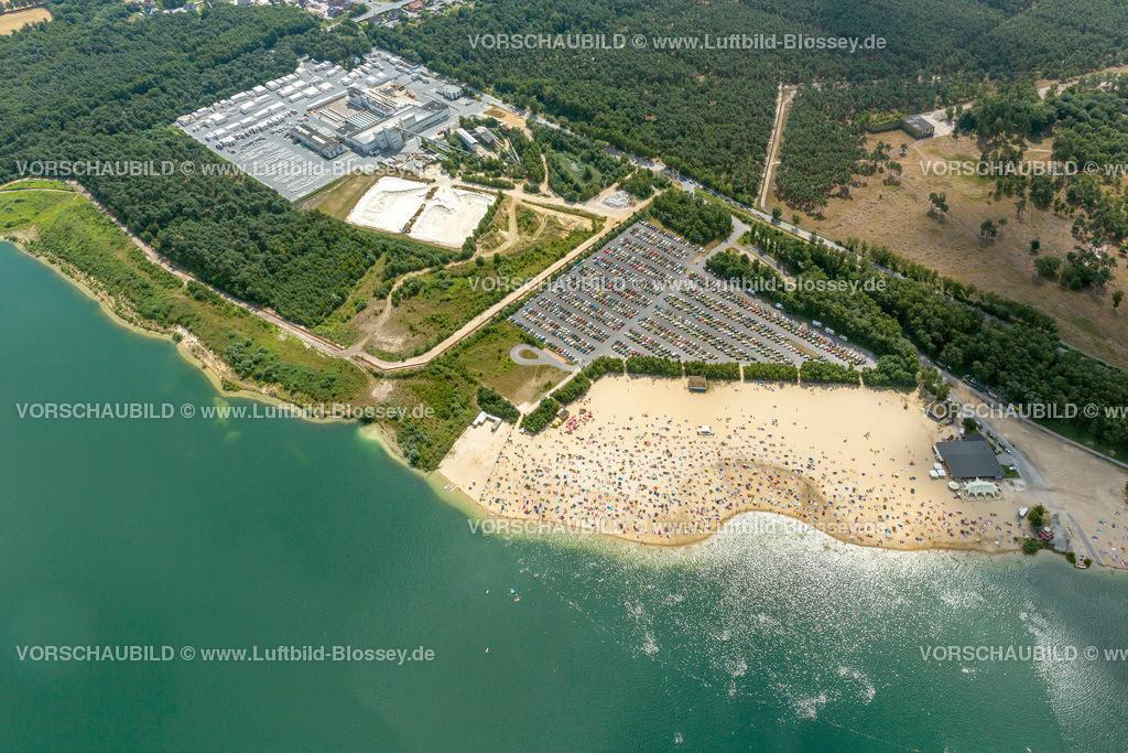 Haltern13081769 | Silbersee II aus der Luft, Sandstrand und türkisfarbenes Wasser, Luftbild von Haltern am See