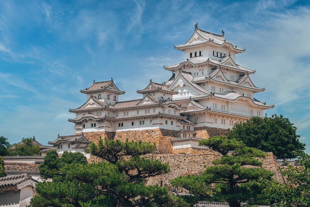 Japan Himeji-jo Weiße Burg | Japan Himeji-jo Weiße Burg