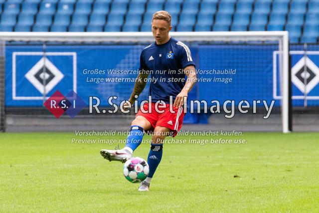 Fußball, Herren, Testspiel, Hamburger SV - FC Hansa Rostock, Volksparkstadion, 09.08.2020   Sonny Kittel (#10 HSV)