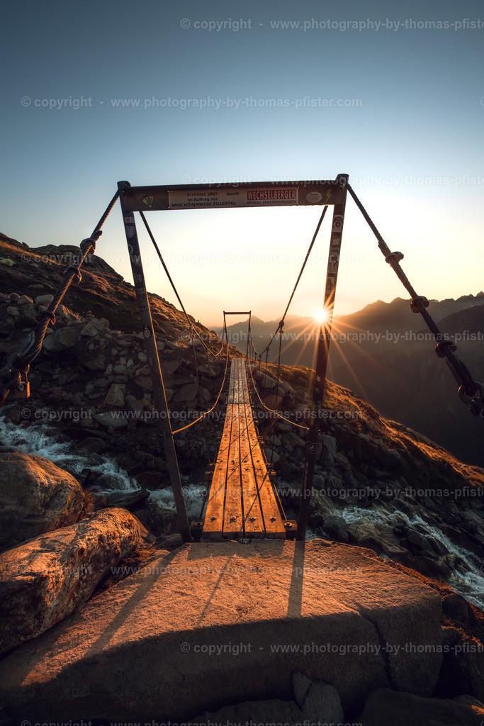 Brücke bei Olpererhütte Sonnenaufgang-2