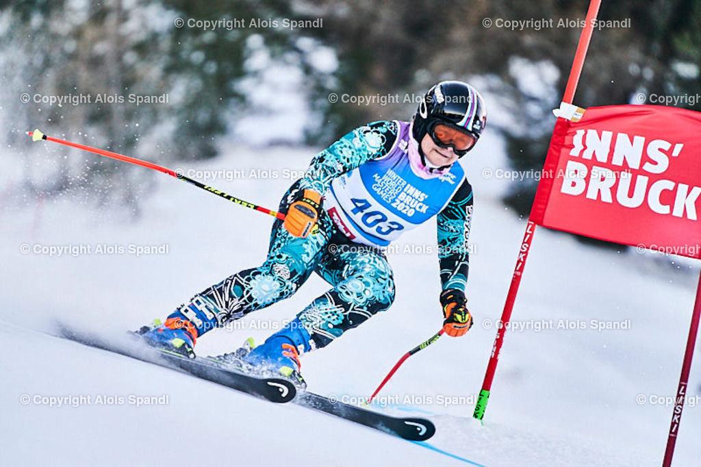 ALS5699_WWMG_GS-II_C   (C) FotoLois.com, Alois Spandl, WinterWorldMastersGames 2020 Innsbruck, Giant Slalom-II Gruppe C Damen, Patscherkofel Olympiaabfahrt, Mi 15. Jänner 2020.