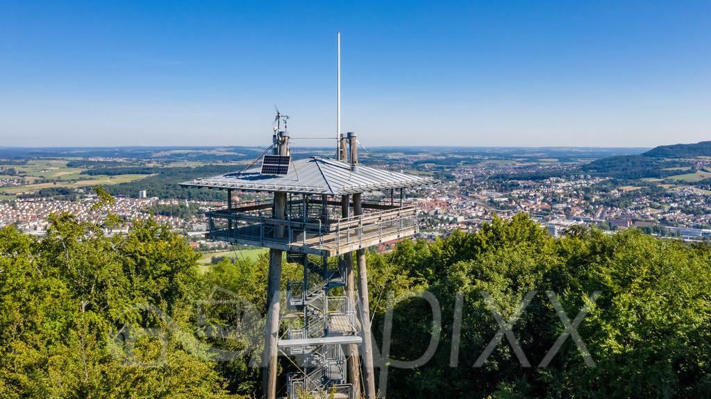 Aalbäumle Turm | ...hervorragende Aussicht aus 26 m Turmhöhe über die